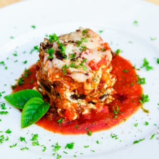 Eggplant Parmesan Stacks (gluten-free, vegan option)