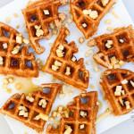 Apple Cinnamon Waffles (vegan, contains gluten)