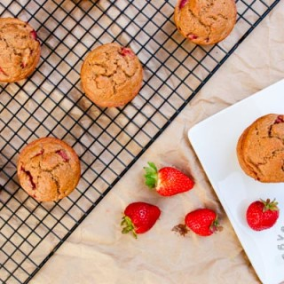 Strawberry Breakfast Muffins (vegan, gluten-free option)