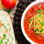 Tomato Sev Curry (vegan, gluten-free)