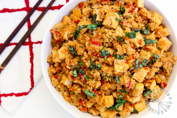 cauliflower rice stir fry-5