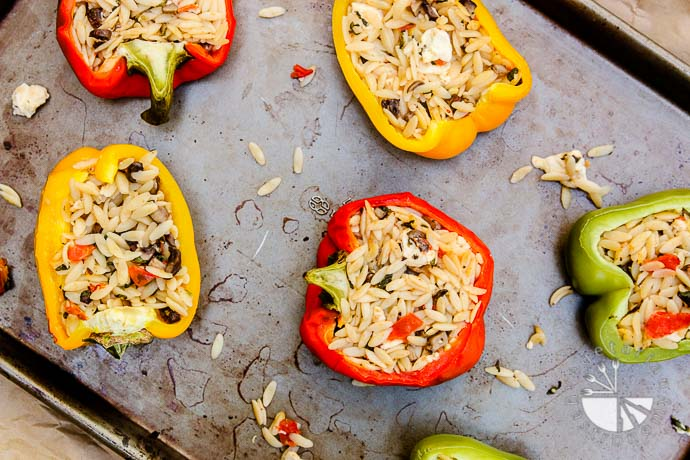 orzo feta stuffed bell peppers-3