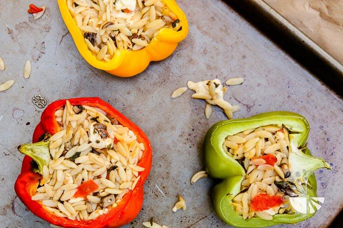 orzo feta stuffed bell peppers-5