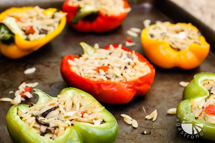 orzo feta stuffed bell peppers-6