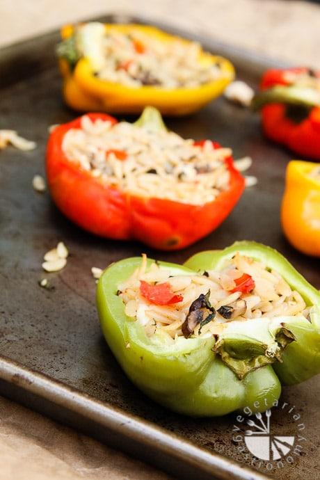 orzo feta stuffed bell peppers-7