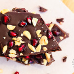 Pomegranate, Roasted Peanut, Dark Chocolate Bark (vegan, gluten-free)