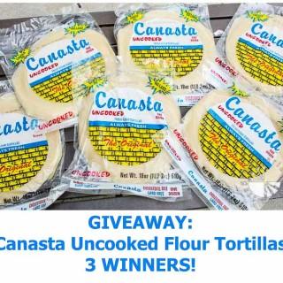 Giveaway: Canasta Uncooked Flour Tortillas (vegan, contains gluten)