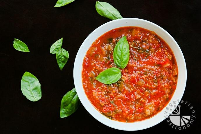 Spicy Tomato Sauce Vegan Gluten Free Vegetarian Gastronomy