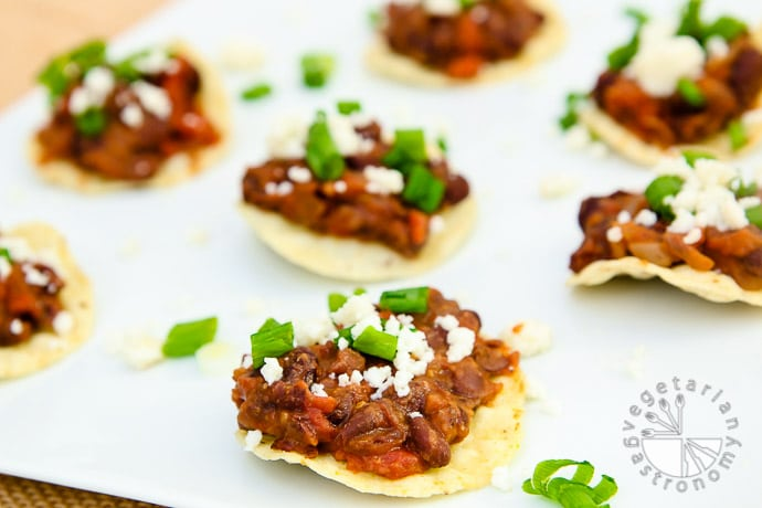 mini black bean toastadas-2