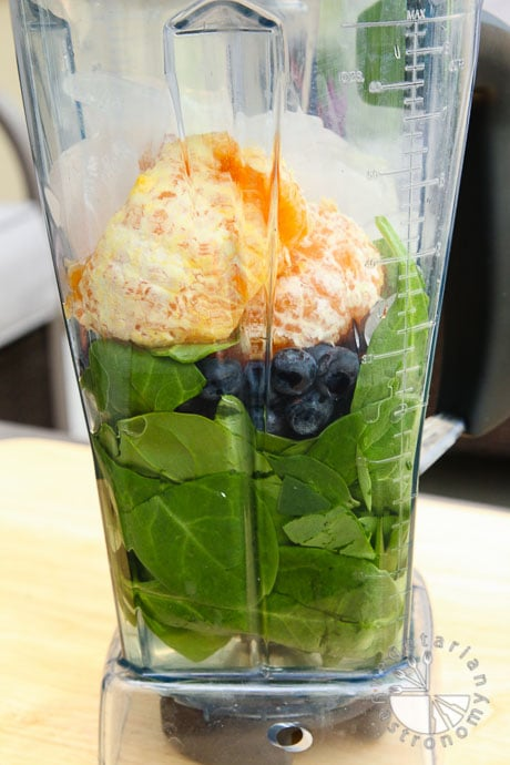 orange coconut blueberry green smoothie-1
