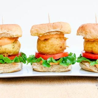 Potato Fritter Sliders w/Chipotle Aioli (vegan, gluten-free)
