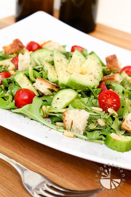 arugula tomato pine nut salad-4