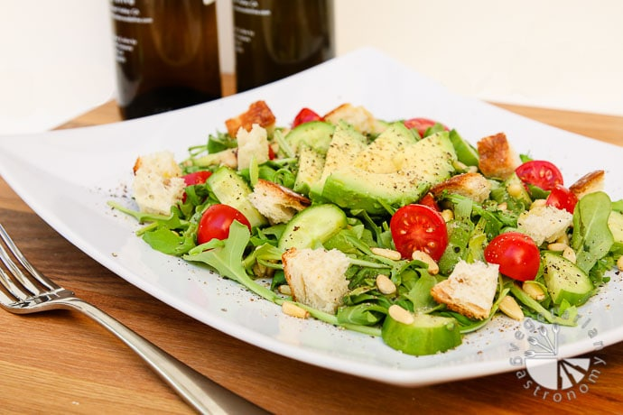 arugula tomato pine nut salad-5