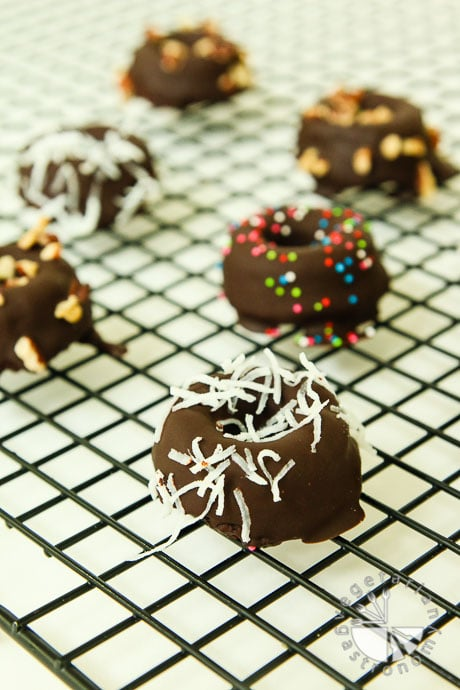 chocolate chia donut cakes-3
