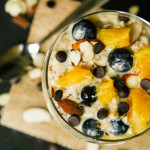 Orange Blueberry Vanilla Overnight Oats (vegan, gluten-free)