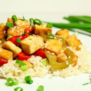 Orange Pepper Tofu (vegan, gluten-free)