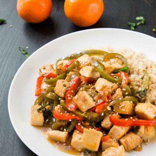 Orange Tofu Stir-Fry with Peppers