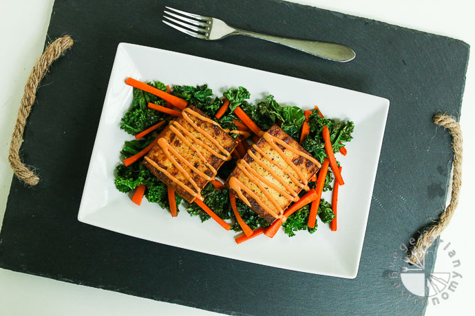 warm crispy baked tofu kale salad-2