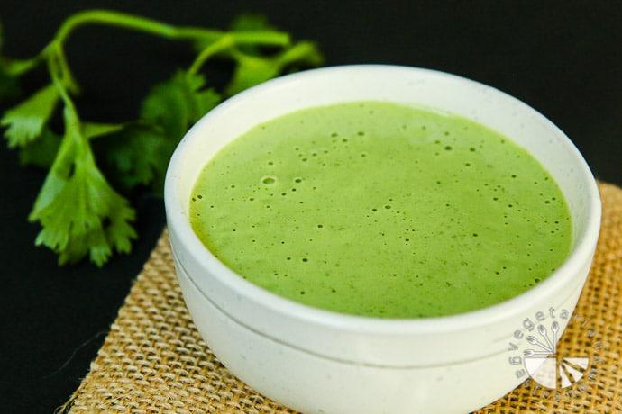 creamy cilantro tahini sauce-2