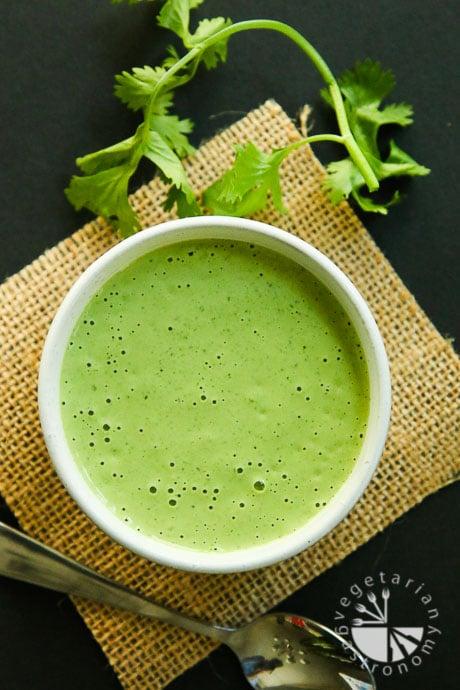 creamy cilantro tahini sauce-3