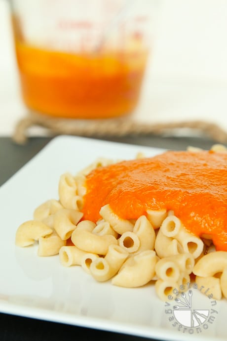 creamy carrot tomato pasta-1