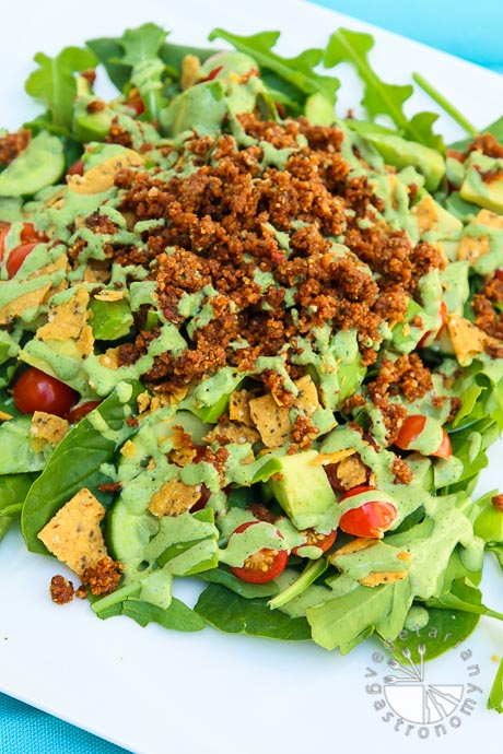 the ultimate taco salad with savory walnut sundried tomato crumble-1-2