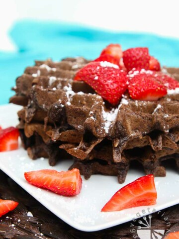 double chocolate chip oat waffles-1