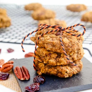 Pumpkin Pecan Breakfast Cookies