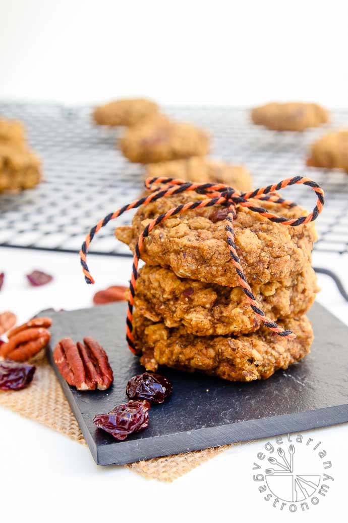 pumpkin pecan breakfast cookies-3