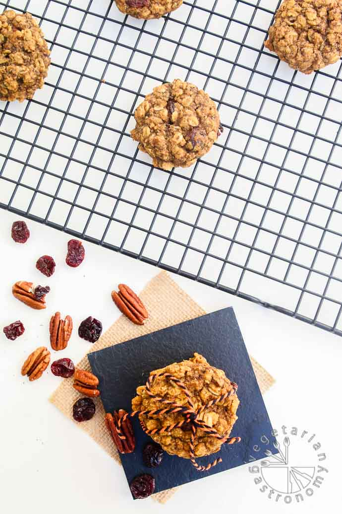 pumpkin pecan breakfast cookies-5