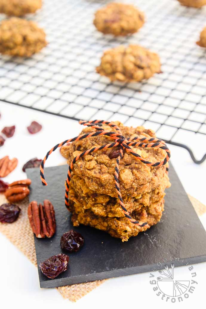 pumpkin pecan breakfast cookies-6