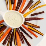 Simple Maple Roasted Colored Carrot Sticks