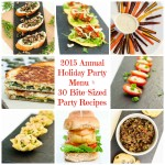 2015 Annual Holiday Party Menu + 30 Vegan Bite-Sized Party Recipes