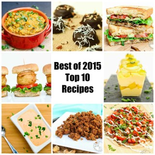 Best of 2015 – Top 10 Recipe Posts On Vegetarian Gastronomy!
