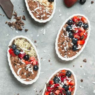 Chocolate Coconut Chia Pudding Fruit Pie