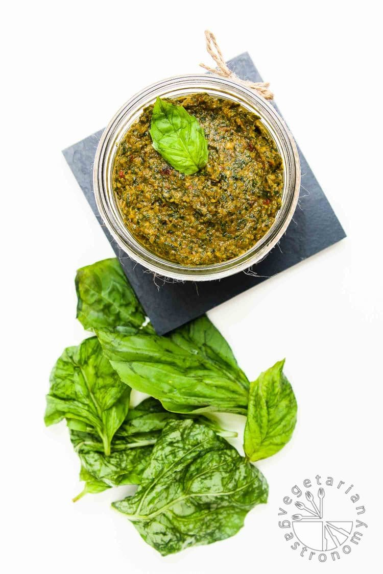 Sun Dried Tomato & Basil Pesto Recipe — Dishmaps