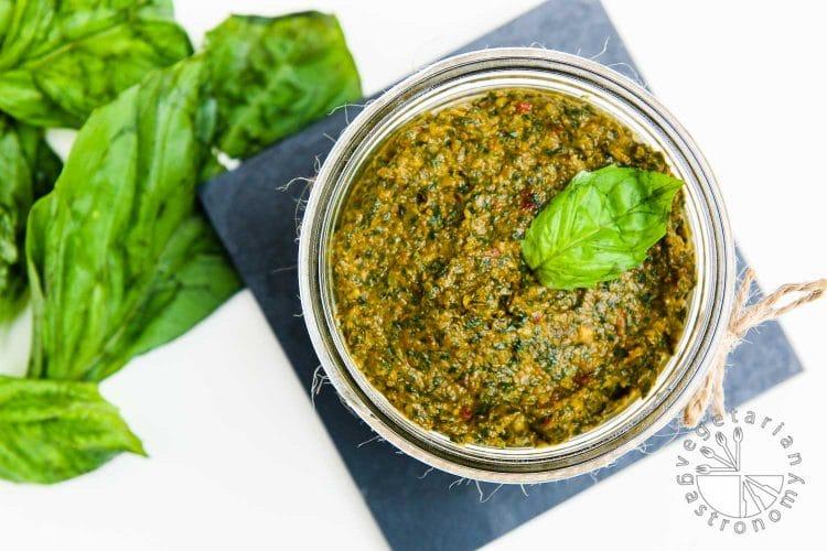 Sun-Dried Tomato, Miso, and Basil Pesto - Vegetarian Gastronomy