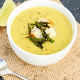 creamy roasted asparagus soup-5