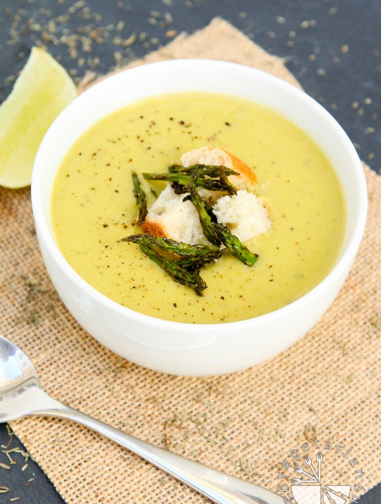 creamy roasted asparagus soup-5