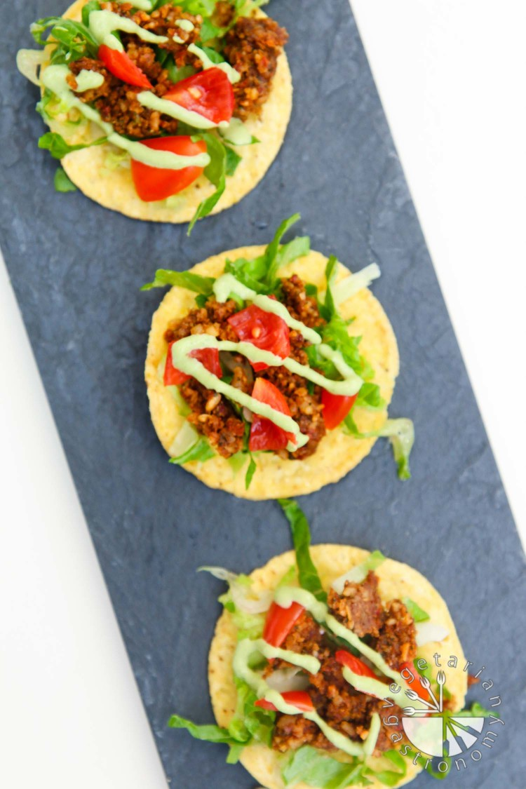 mini walnut sun-dried tomato crumble tostadas-2