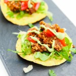 Mini Walnut Sun-Dried Tomato Crumble Tostadas