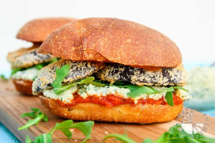 Crispy Eggplant Parmesan Sandwich-14