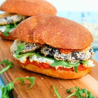 Crispy Eggplant Parmesan Sandwich-3