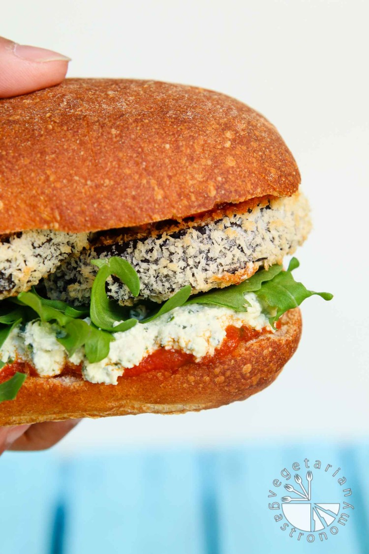 Crispy Eggplant Parmesan Sandwich-7