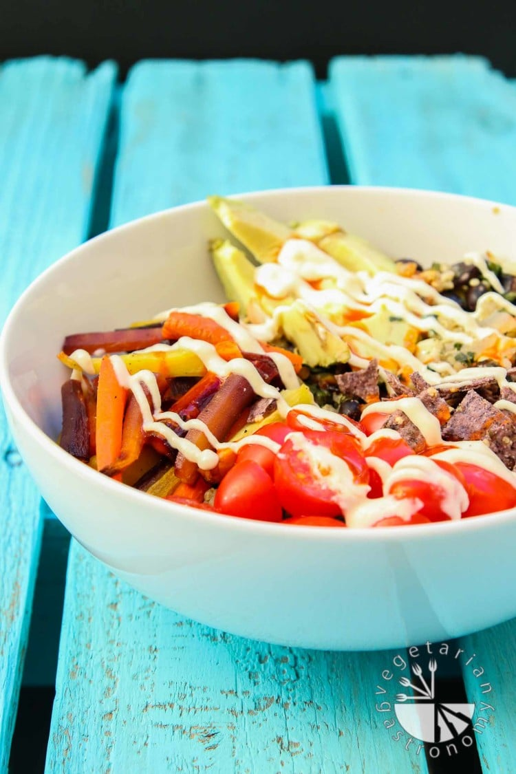 Roasted Veggie Quinoa Mexican Bowl-2