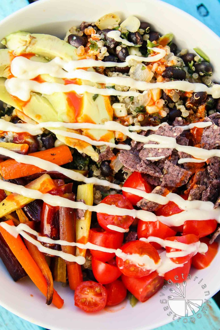 Roasted Veggie Quinoa Mexican Bowl-3