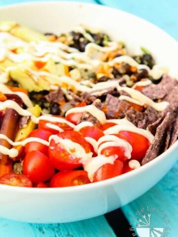 Roasted Veggie Quinoa Mexican Bowl-4