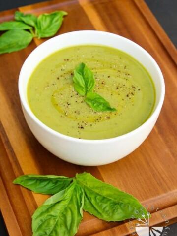 Velvety Zucchini Basil Soup-6
