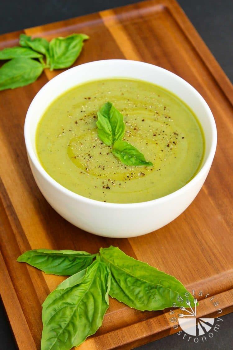 Velvety Zucchini Basil Soup - Vegetarian Gastronomy