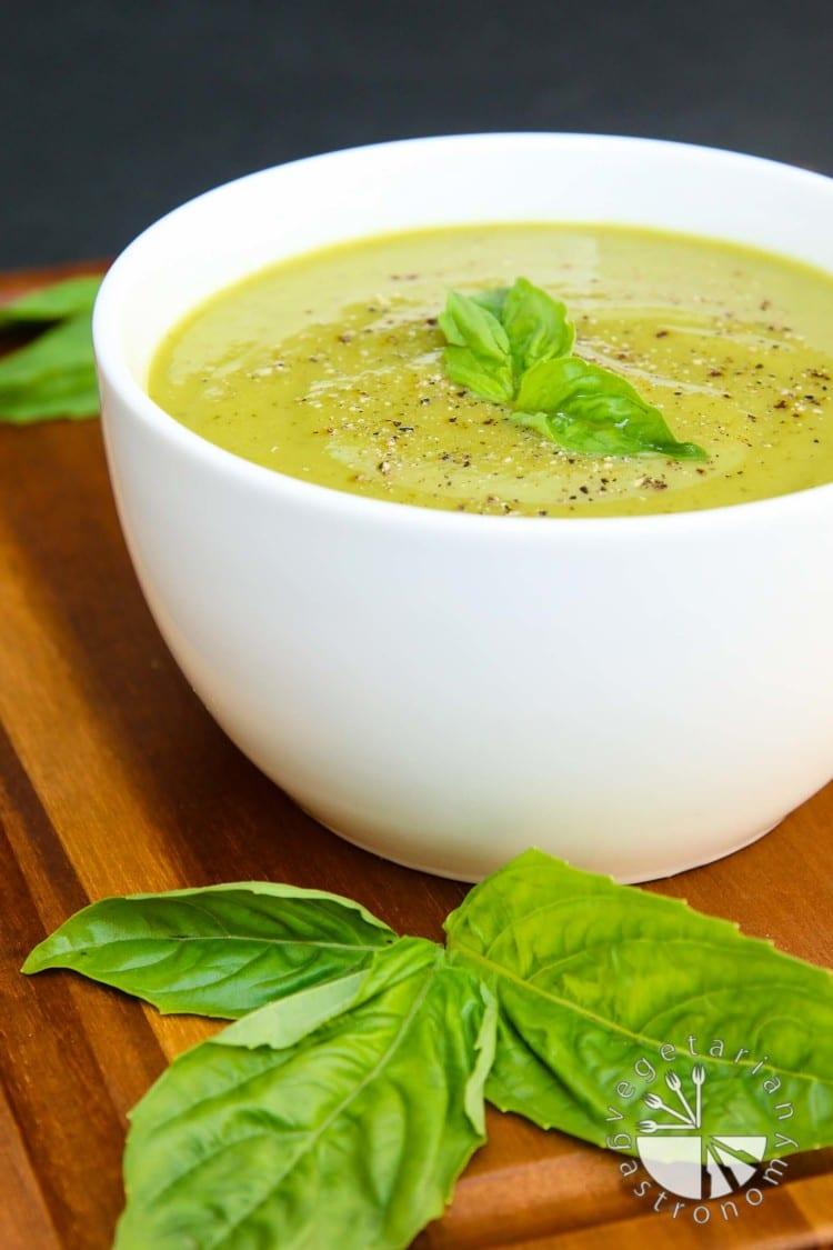 Velvety Zucchini Basil Soup-7
